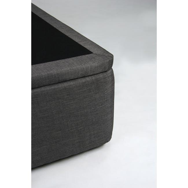 ESSENTIALS Single Headboard Storage Bed - Smoke (Fabric) - 13