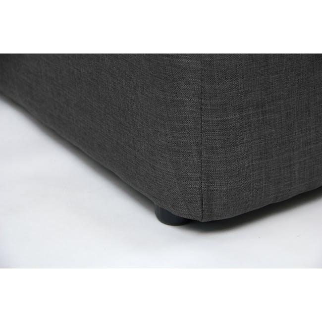 ESSENTIALS Single Headboard Storage Bed - Smoke (Fabric) - 14