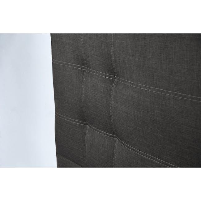 ESSENTIALS Super Single Headboard Storage Bed - Smoke (Fabric) - 6