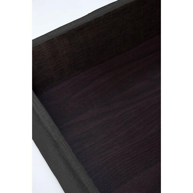 ESSENTIALS Super Single Headboard Storage Bed - Smoke (Fabric) - 8