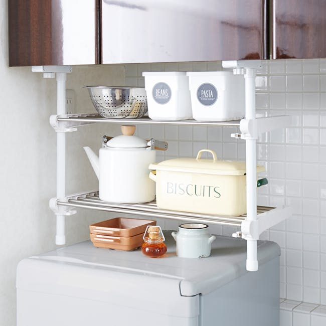 HEIAN 2-Tier Adjustable Kitchen Hanging Shelf - 1