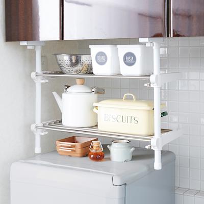 Heian2-Tier Adjustable Kitchen Hanging Shelf - Image 2