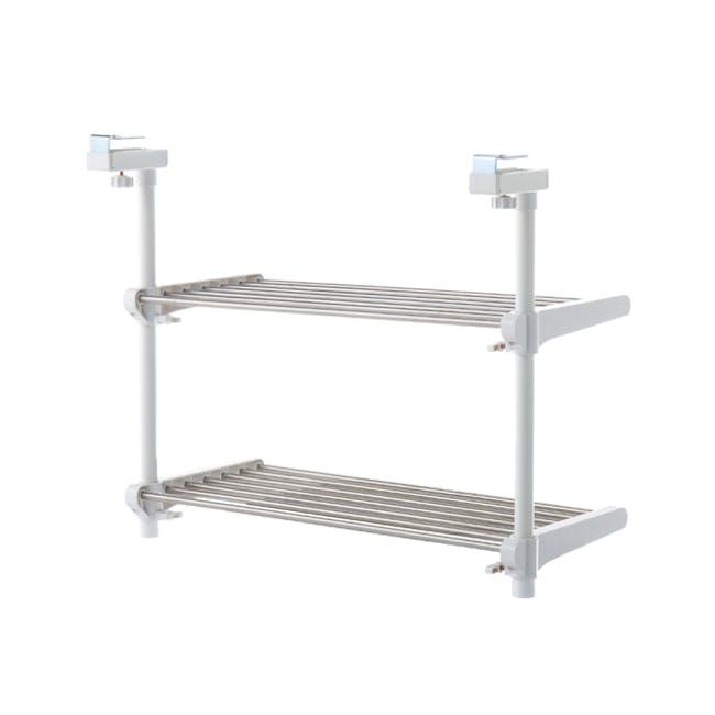 HEIAN 2-Tier Adjustable Kitchen Hanging Shelf - 0