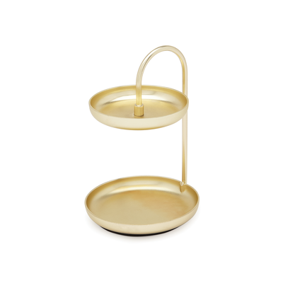 Poise 2-Tiered Ring Dish - Brass - Image 1