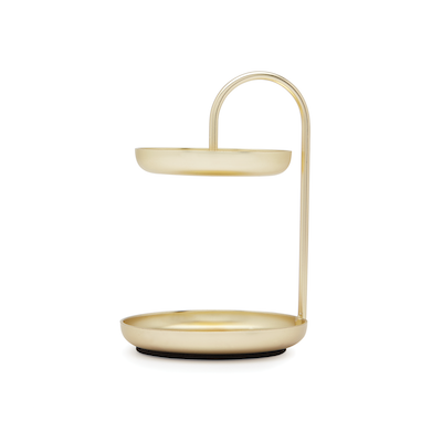 Poise 2-Tiered Ring Dish - Brass - Image 2