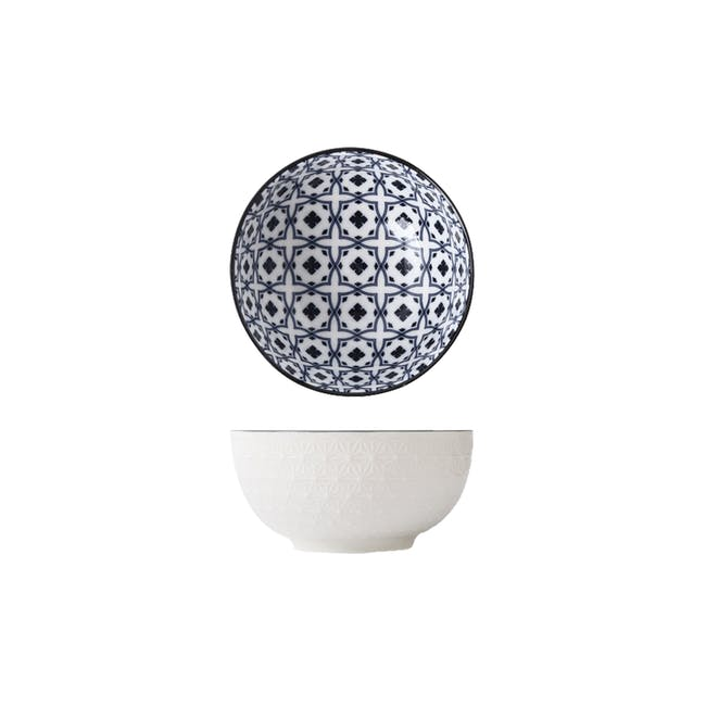Table Matters Crisscross Blue Bowl (3 Sizes) - 0