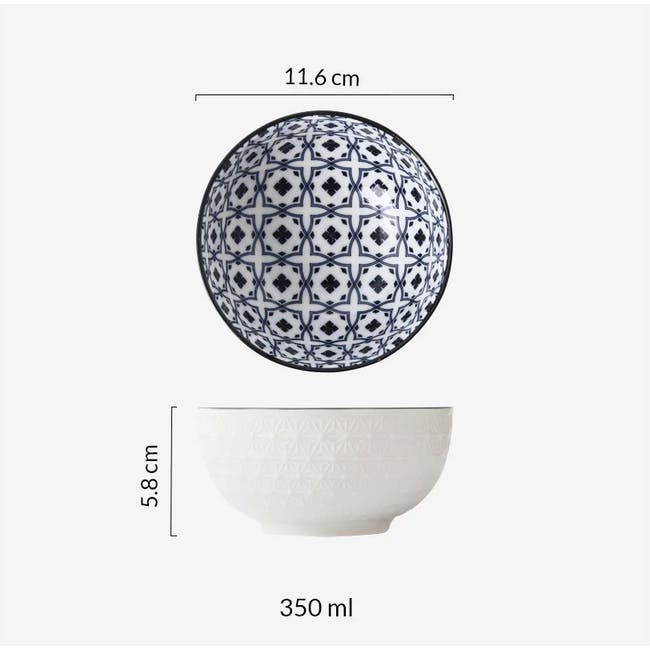 Table Matters Crisscross Blue Bowl (3 Sizes) - 2