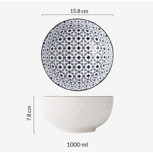 Table Matters Crisscross Blue Bowl (3 Sizes) - 3