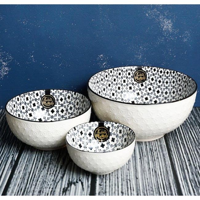 Table Matters Crisscross Blue Bowl (3 Sizes) - 1