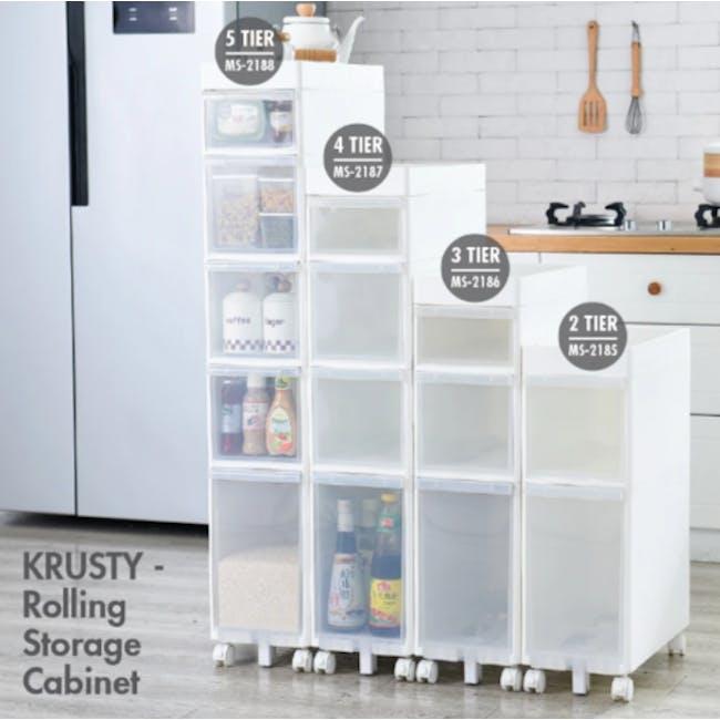 Krusty 2 Tier Rolling Storage Cabinet - 6