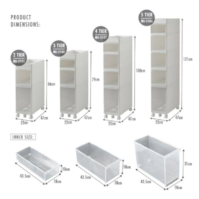 Krusty 2 Tier Rolling Storage Cabinet - 7