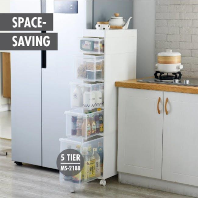 Krusty 2 Tier Rolling Storage Cabinet - 3