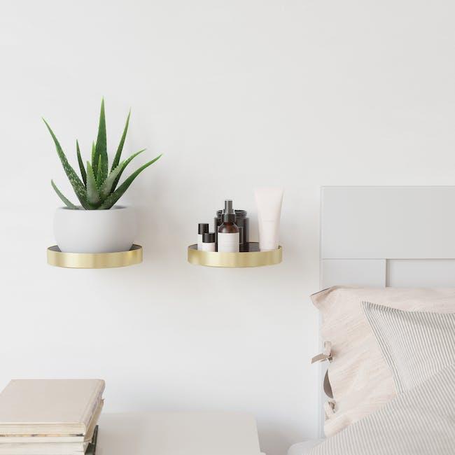 Perch Wall Shelf - Brass (Set of 2) - 6