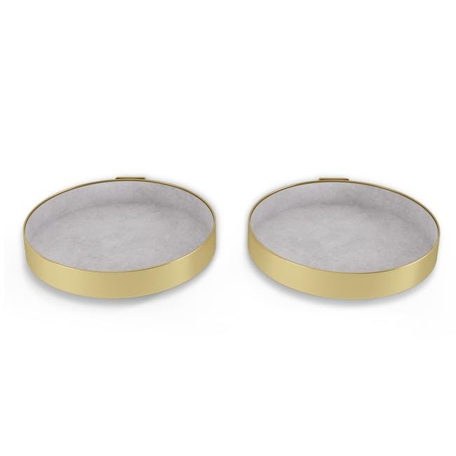 Perch Wall Shelf - Brass (Set of 2) - 3