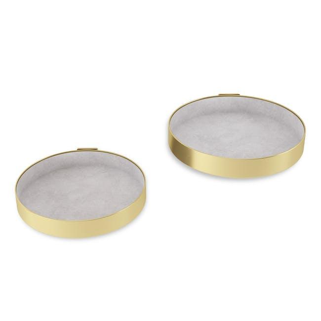Perch Wall Shelf - Brass (Set of 2) - 1