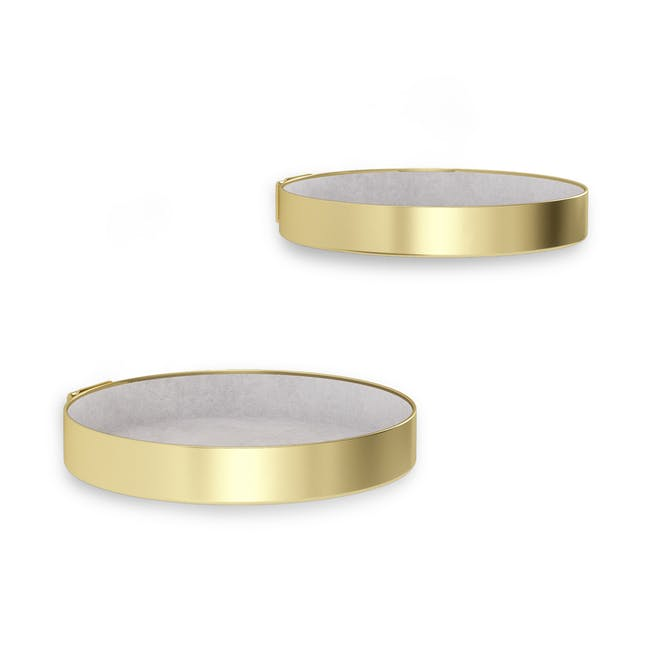Perch Wall Shelf - Brass (Set of 2) - 2