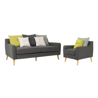 Evan 3 Seater Sofa with Evan Jr. Armchair - Image 1