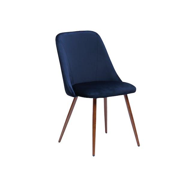 Lana Dining Chair - Walnut, Royal Blue (Velvet) - 0