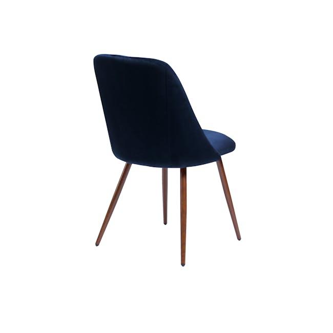 Lana Dining Chair - Walnut, Royal Blue (Velvet) - 2