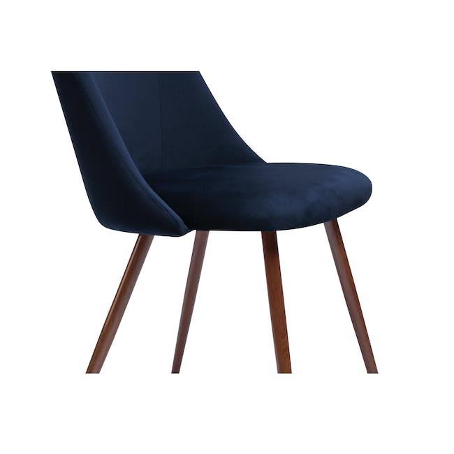 Lana Dining Chair - Walnut, Royal Blue (Velvet) - 3