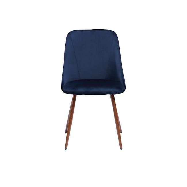 Lana Dining Chair - Walnut, Royal Blue (Velvet) - 1