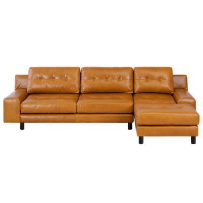 Wyatt L Shape Sofa - Butterscotch (Premium Leather) - Image 1