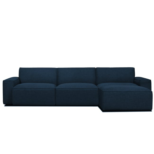 Ford L-Shaped 4 Seater Sofa - Oxford Blue - 0