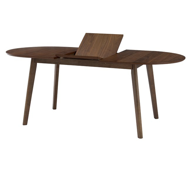 (As-is) Werner Extendable Oval Dining Table 1.5m - Walnut - 3 - 6
