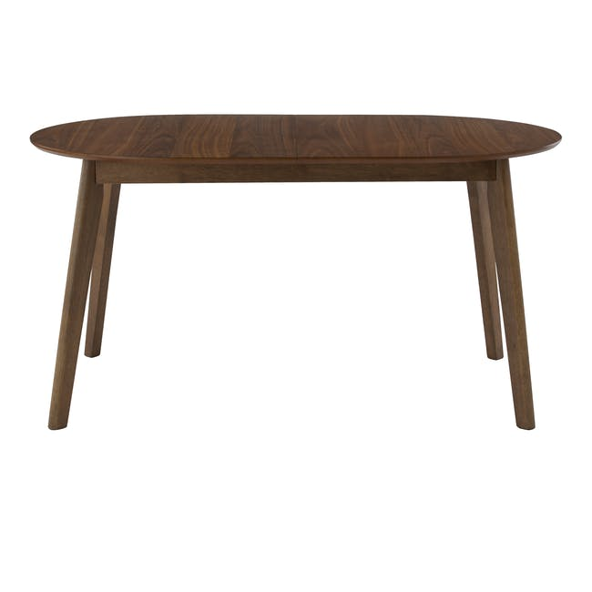 (As-is) Werner Extendable Oval Dining Table 1.5m - Walnut - 4 - 0