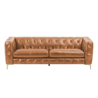 Jameson 3 Seater Sofa - Cognac (Aniline Leather) - Image 2