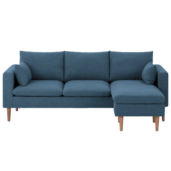 Alicia L-Shaped Sofa - Blue - 0