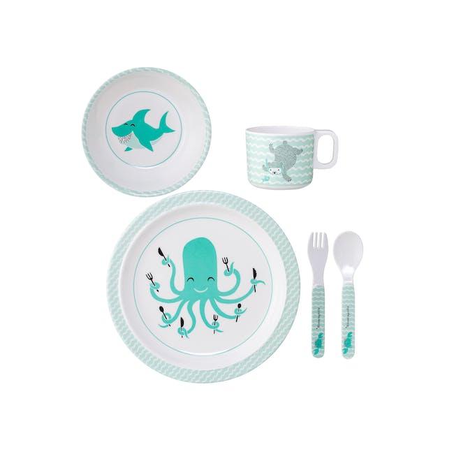 Axel Kids Tableware Set - Green (5pc Set) - 0