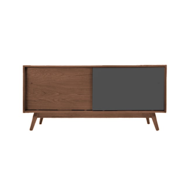 Emelie TV Console 1.2m in Walnut, Anthracite with Avery Coffee Table in Anthracite - 8