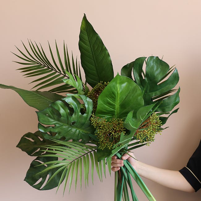 Faux Tropical Leaf - Assorted (Set of 5) - 1