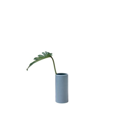 Nordic Matte Vase Small Straight Cylinder - Blue Grey - Image 1