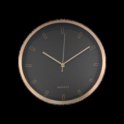 Pellicano Wall Clock - Black, Copper - Image 1