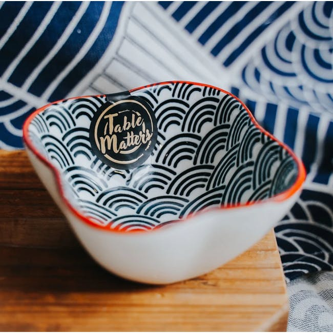 Table Matters Blue Wave Saucer (2 Sizes) - 6