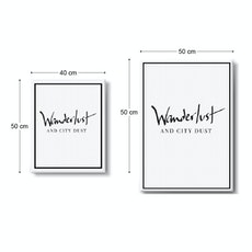 Wanderlust and City Dust Stretched Canvas Art Print