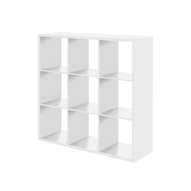 Taina 9 Shelving Unit - White - 0