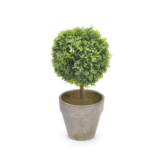 1688 - Faux Boxwood Topiary 25.5 cm