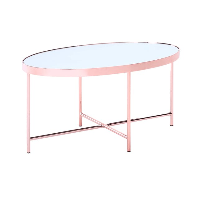 Xander Oval Coffee Table - Copper - 4