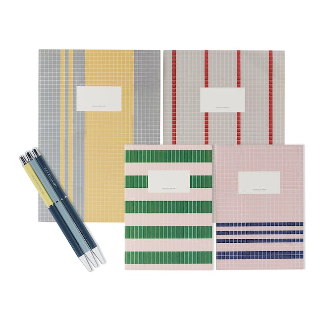 A4 Jule Notebook with A5 Lily Notebook Stationery Set - 0