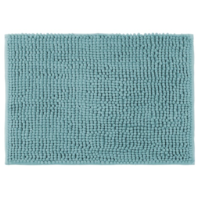 Cora Chenille Floor Mat - Sky Blue - 0