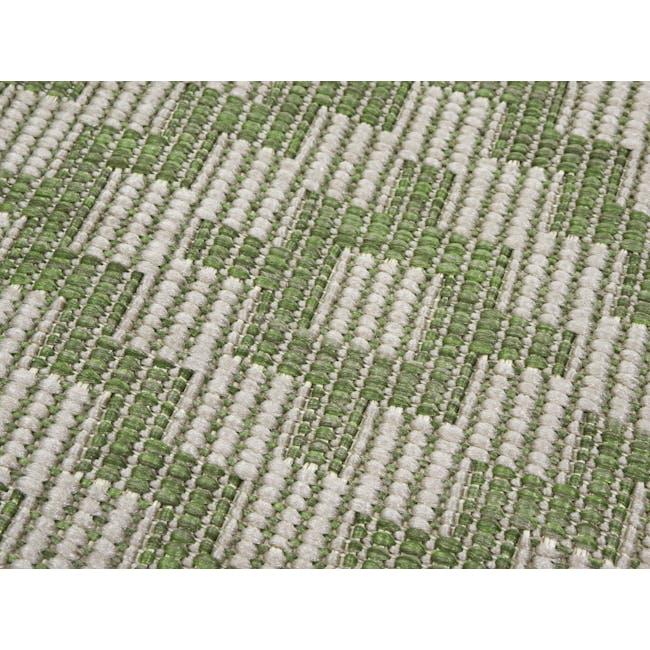 Essenza Flatwoven Rug 1.7m x 1.2m - Green Nordic Lozenge - 1