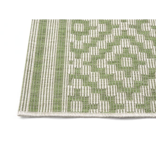Essenza Flatwoven Rug 1.7m x 1.2m - Green Nordic Lozenge - 2