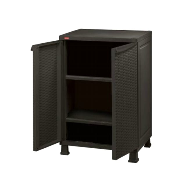 Rattan Wall and Base with Legs - Dark Brown - 0