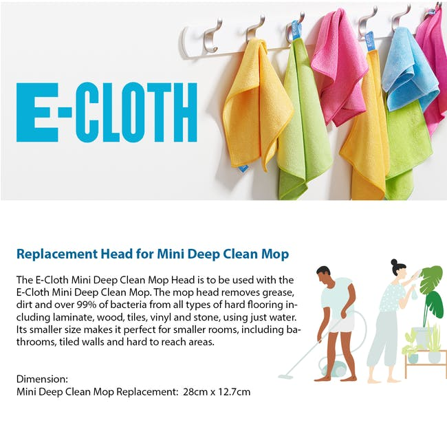 e-cloth Mini Deep Clean Eco Mop Replacement Head - 2