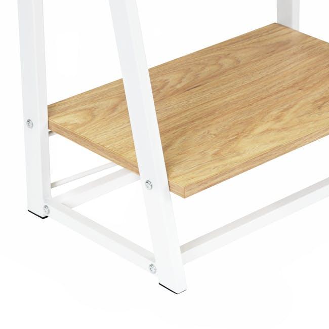 Luca Tall Shelf- White, Oak - 3