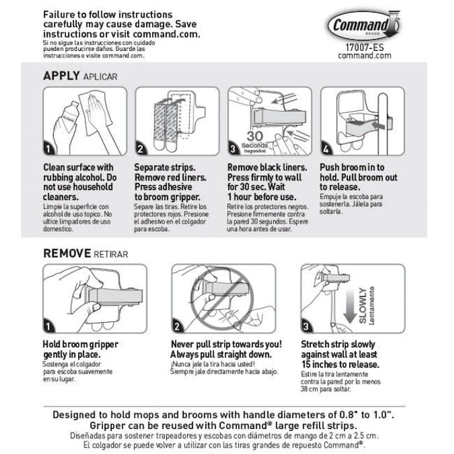 Command™ Broom Gripper - 6