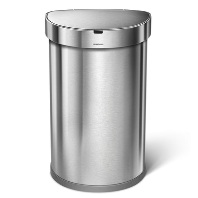 simplehuman Semi-Round Sensor Bin 45L - Silver - Image 2